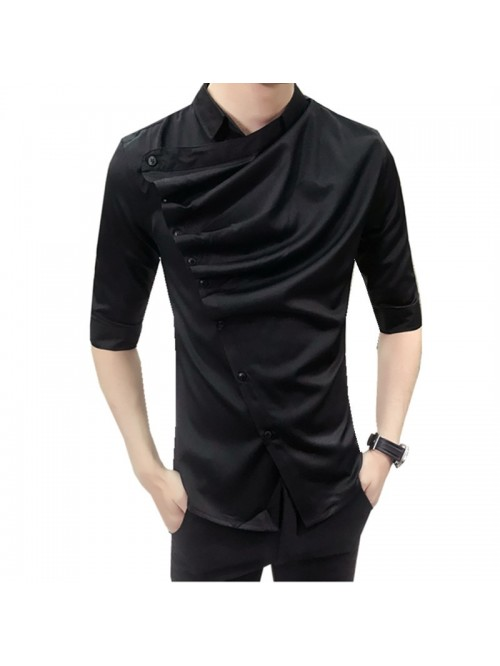 Summer Gothic Shirt Ruffle Designer Collar Shirt B...