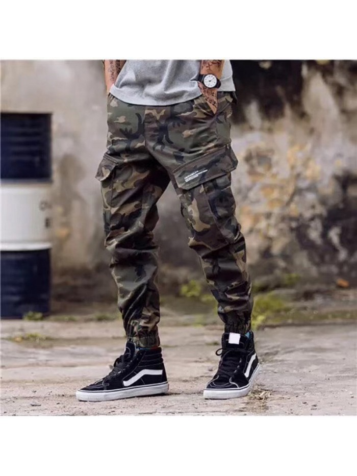 Fashion Classical Army Pants High Street Cotton Jeans Men Jogger Pants Brand Designer Big Pocket Military Cargo Pants Men Jeans