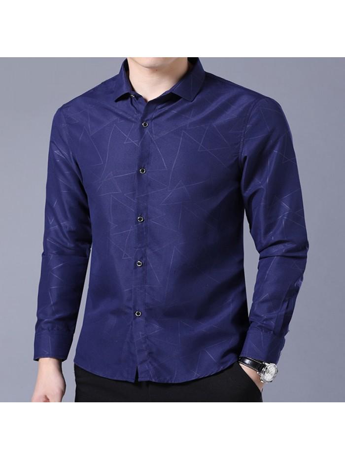 Long Sleeve Formal Business Man Shirt