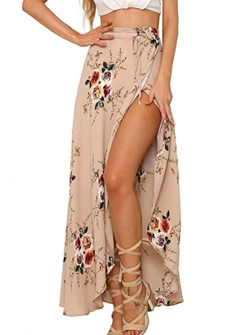 Womens Boho Floral Tie Up Waist Summer Beach Wrap ...