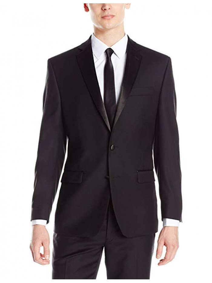 Men's Modern Fit 100% Wool Tuxedo Suit Separate (Blazer and Pant)